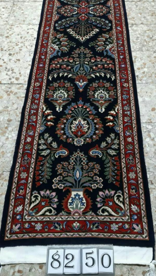 Black persian rug Runner 8250