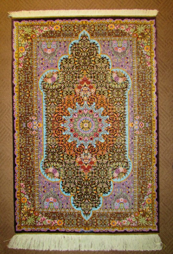 Silk persian rug 863