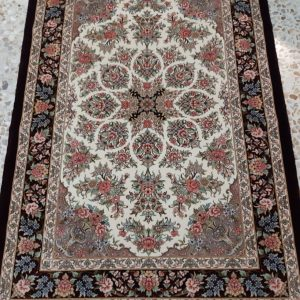 Black and white persian rug 5723