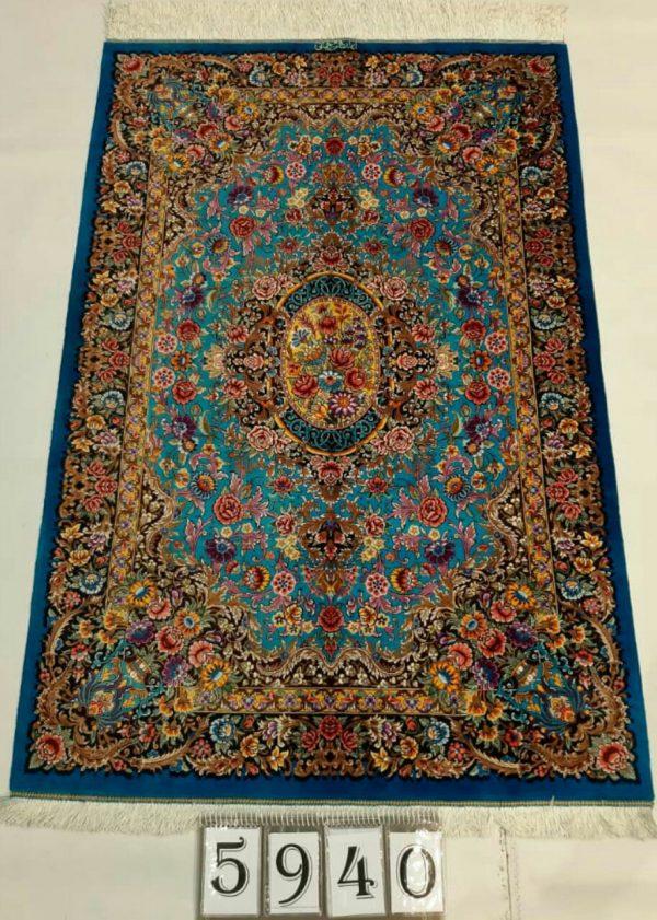 Blue Persian rug 5940