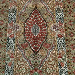 Silk Persian rug 5926