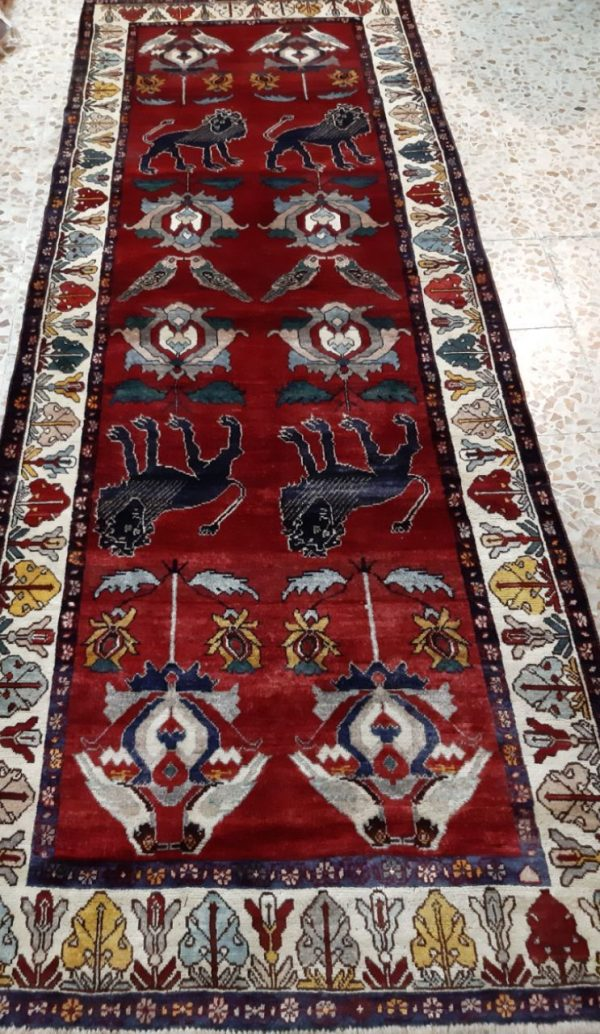 Red persian rug 5726