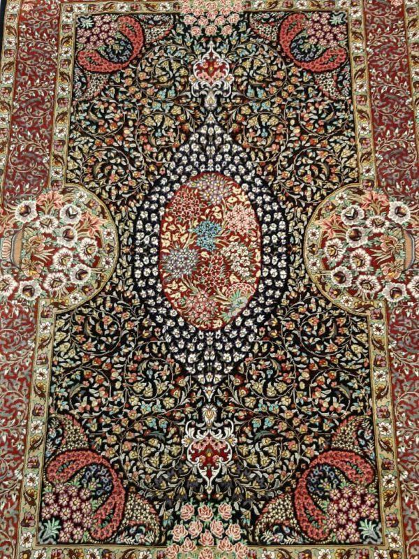 Silk Persian rug 5932-2