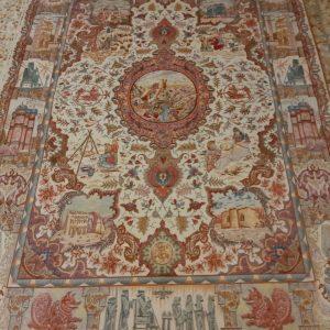 Orange persian rug 5735