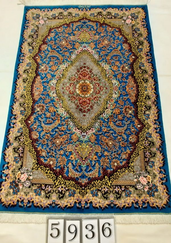 Handmade Persian Rug 5936 Silk