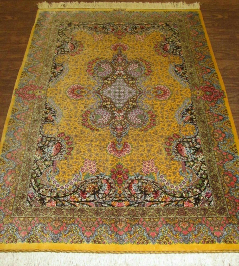 Silk Persian Rug 9528 Hand Knotted